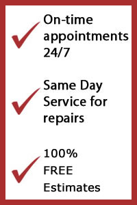 garage door repair prosper tx, on-time appointments, same day service, free estimates