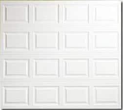 Raised panel metal Garage door