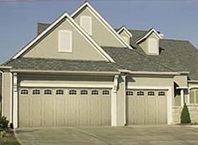 raised panel garage door with window upgrade
