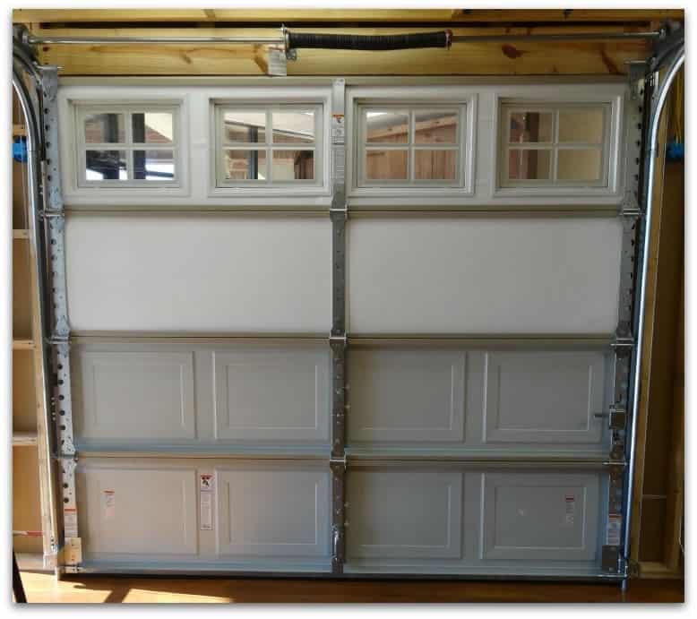 Insulated non insulated garage door