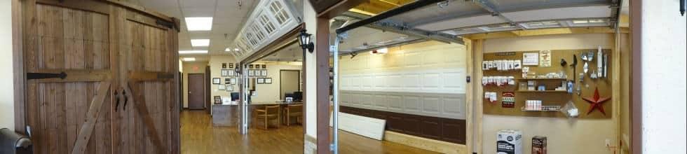 New garage door showroom