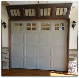 Single car garage door