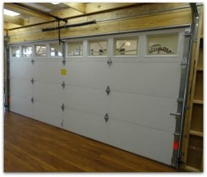 double steelback garage door inside look