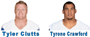 Dallas Cowboys Players Tyrone Crawford and Tyler Clutts