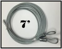 7 foot torsion spring cables