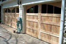 custom cedar wood garage doors