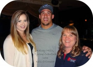 Kris and Tyrone Crawford with Kelsey