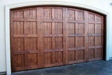 arched wood garage door with no hardware