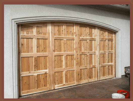 Natural custom cedar garage door