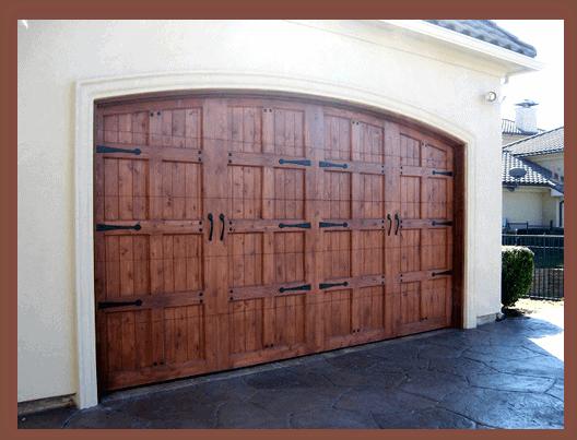 16 x 7 Custom Wood Door with hardware-1