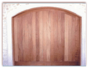 8 x 7 Custom Wood Door Vertical Arched-1