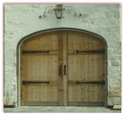 8 x 7 Custom Wood Door arched and hardware-
