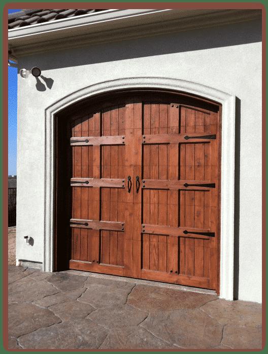 8 x 7 Custom Wood Door with hardware-1