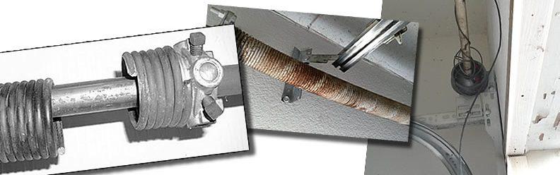 repair garage doors, we replace broken springs