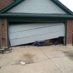 Broken garage door