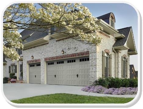 Oak Summit Recessed panel garage door