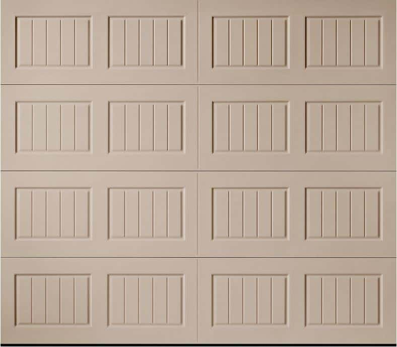 Hillcrest Sandtone Bead Board Garage Door
