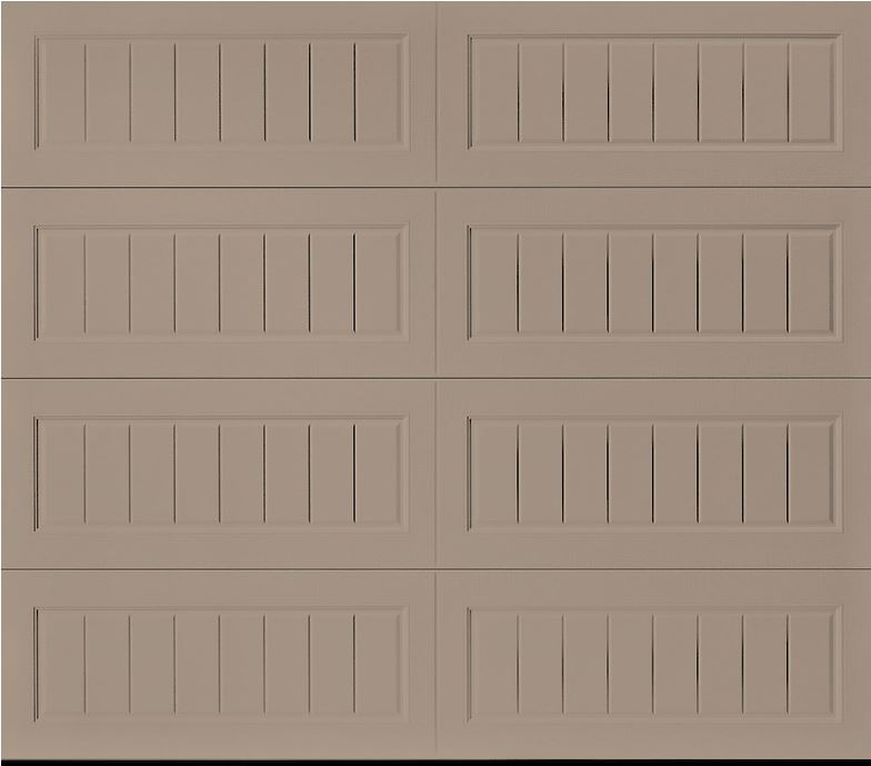 Oak Summit Sandtone Long Bead Board Garage Door