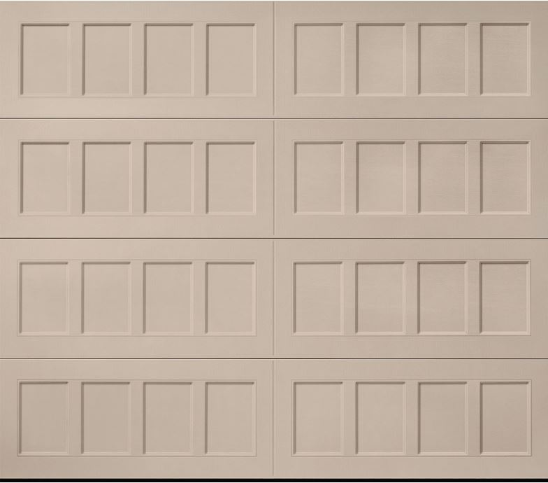 Hillcrest Sandtone Recessed Panel Garage Door