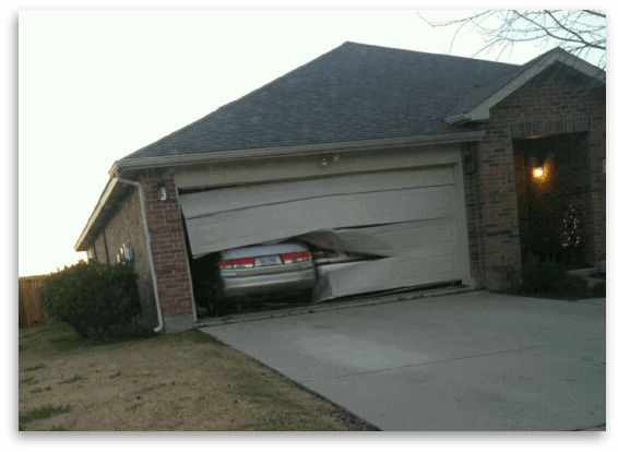 What Do I Do After I Back Into My Garage Door Garage