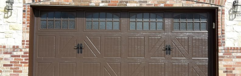 classica lucern danube garage door with obscure glass brown