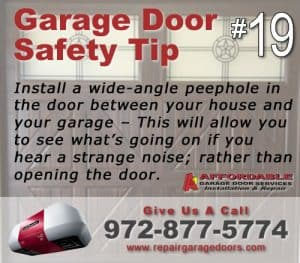 Garage Safety Tip 19 - Door Peephole