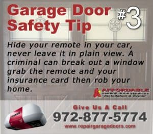 Garage Safety Tip 3 - Hide Remote