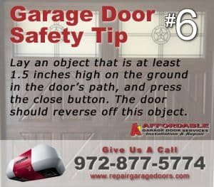 Garage Safety Tip 6 - Block Test