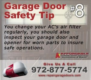 Garage Safety Tip 8 - Regular Door Inspection