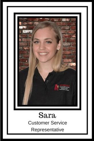 Sara Thomas - Customer Service Representative - A1 Affordable Garage Door Services