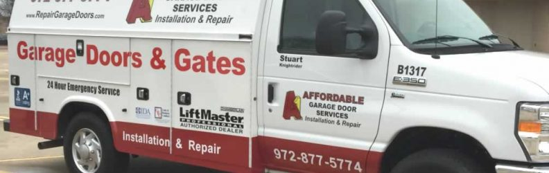 Kevin and Stuart A1 Affordable Garage Door Services New Truck