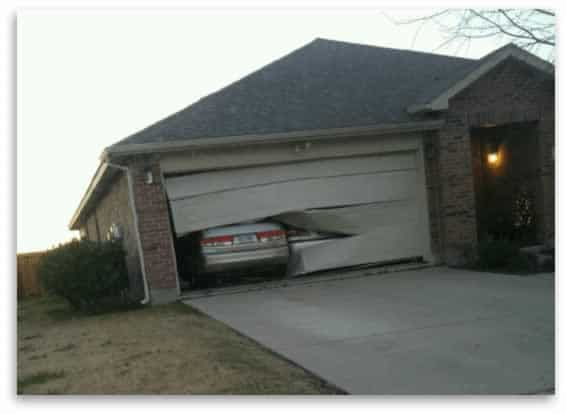 Garage door damage - Garage Door Repair Allen TX