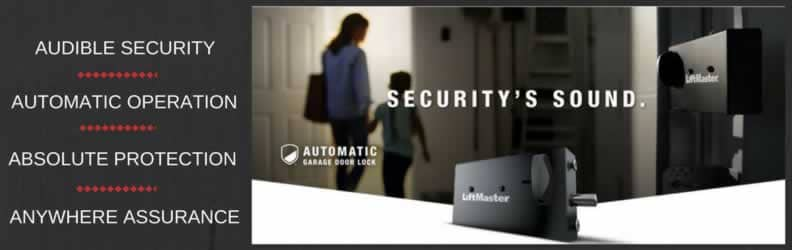 Garage door opener auto lock Liftmaster