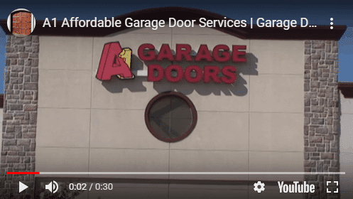 A1 Affordable garage door services showroom