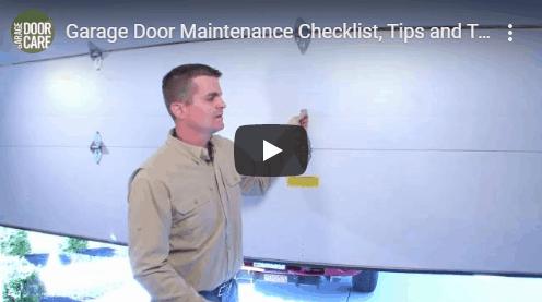 Garage Door Maintenance Checklist Carrollton