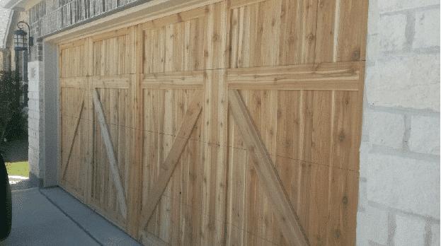 Josephine After Custom Cedar Garage door