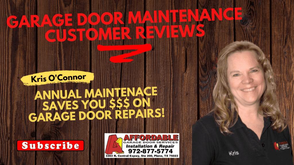 Annual Maintence Saves you money on Garage Door Repairs