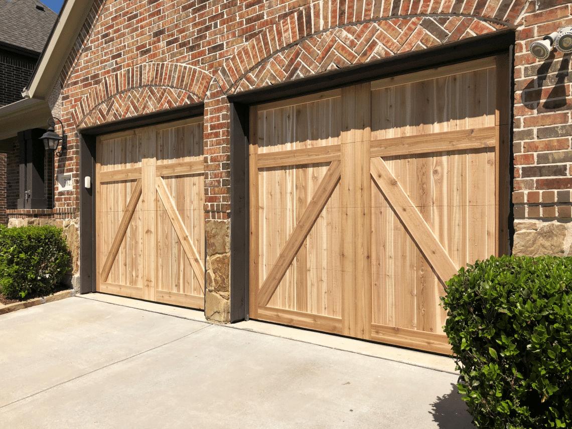 Light Farms Celina Custom Cedar garage doors