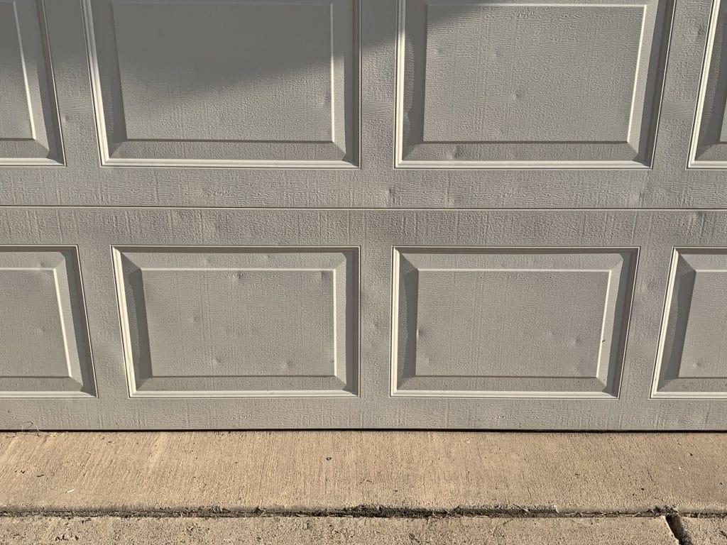 hail damage on a garage door
