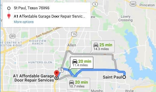 Garage door repair St. Paul Tx